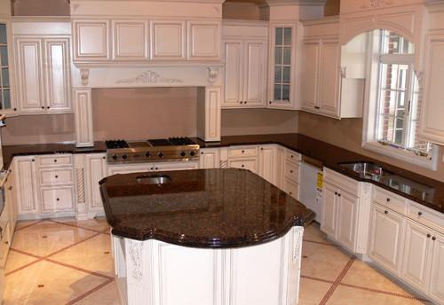 Relished Rubiginous: Tan Brown Granite Countertop