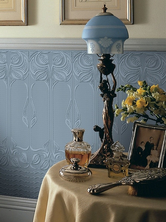 Analypta Paintable Wallpaper - Gothic - Dress up walls with textured, paintable wallpaper called Wildacre. This pattern, Gothic is available at AmericanBlinds.com.