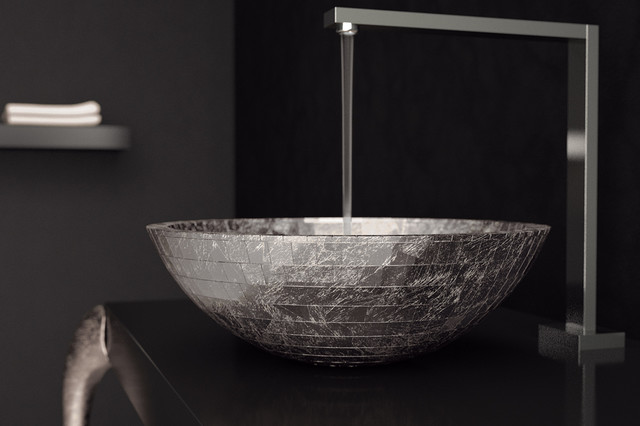 Luxury Silver Leaf Bathroom Vessel Sinks by MaestroBath modern ...