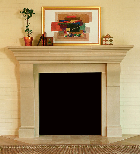 Whitmoore Cast Stone Fireplace Mantel traditional-fireplaces