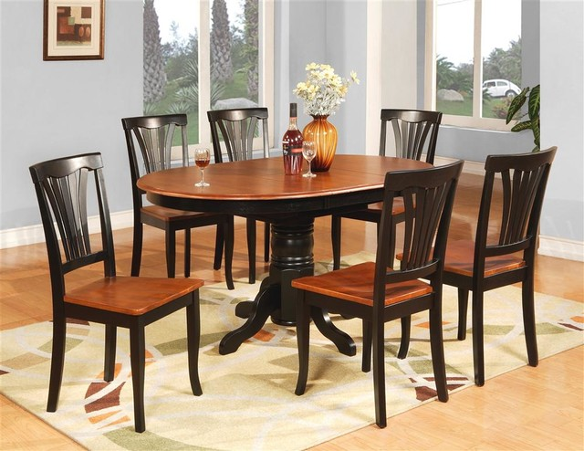 Avon Butterfly Leaf Table Set Black And Cherry