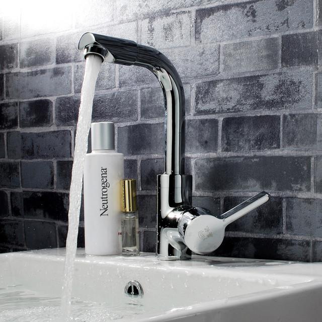 Single Handle Bathroom Faucet Chrome YJ-5538 bathroom-faucets