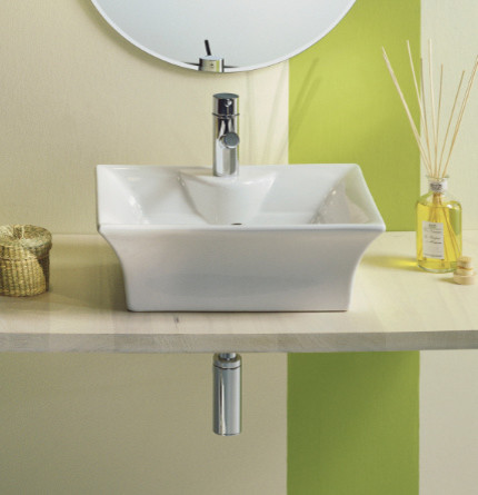 Beautiful Contemporary Above Counter Vessel Sink by Scarabeo contemporary-bathroom-sinks