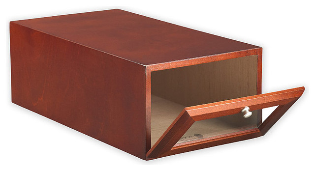 Small Wood Shoe Storage Box - Traditional - Closet Storage - by FRONTGATE
