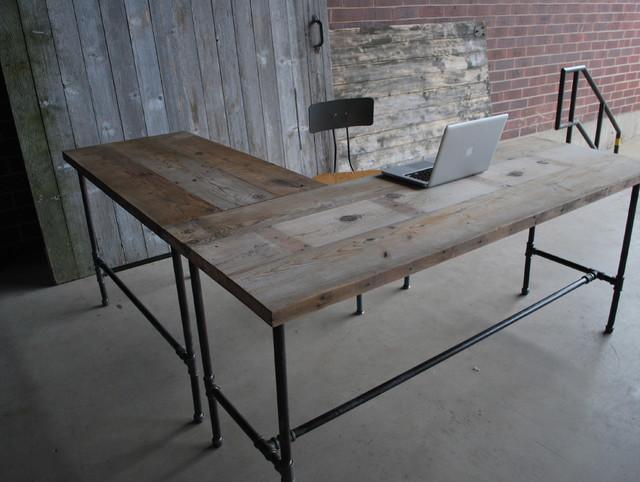 captivating home office desk furniture wood | Reclaimed Wood Desks and Home Office Furntiure