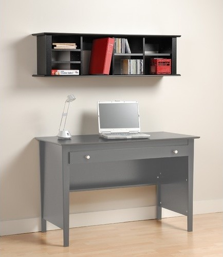 "Belcarra Contemporary 13"" H x 48"" W Desk Hutch modern-home-office-products"