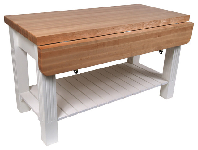 john boos maple grazzi butcher block table with drop leaf