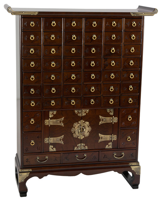 Korean Antique Style 49 Drawer Apothecary Chest - Asian - Dressers - by Oriental Furniture