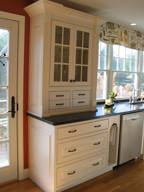 Custom Glass Door Cabinet with Reeding traditional-kitchen-products