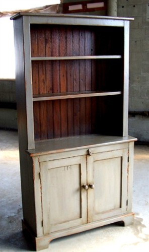3ft Open Top Pine Hutch - Rustic - China Cabinets And Hutches - boston - by ECustomFinishes