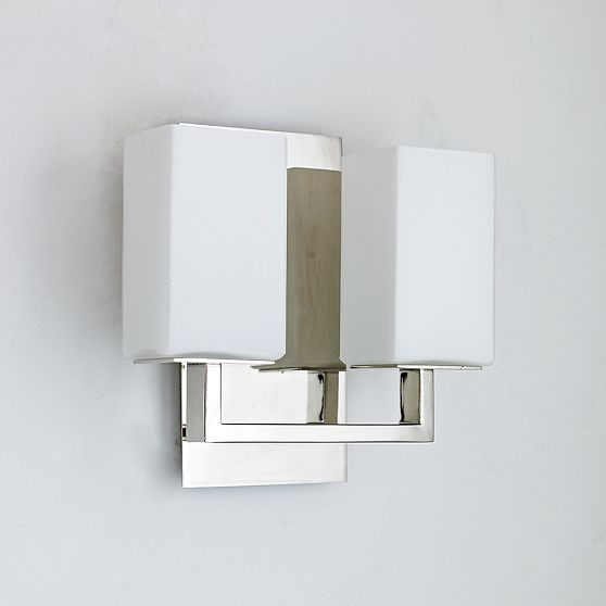 Wall Sconces Modern : Flat Stock Double Sconce - Modern - Wall Sconces - by West Elm