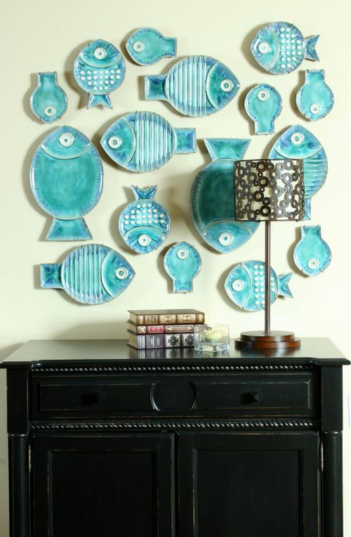 Vintage Global View Fish Plates