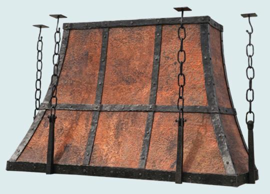 Rustic Range Hoods ~ Copper hood handcrafted metal rustic range hoods and
