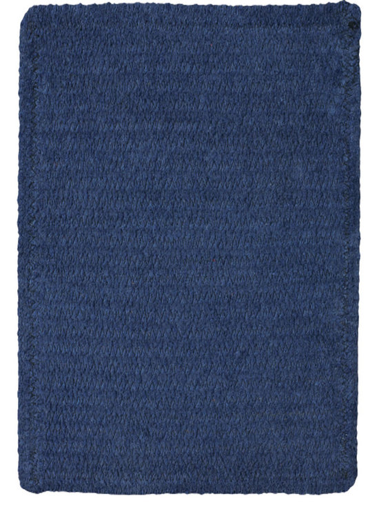 Chenille Creations rug in Dark Blue - Create a comfy, cozy, and custom-made braided rug with Capel's Chenille Creations.  Strands of plush, all-natural, ultra soft cotton chenille weave together to create a soft and vibrant room accent.