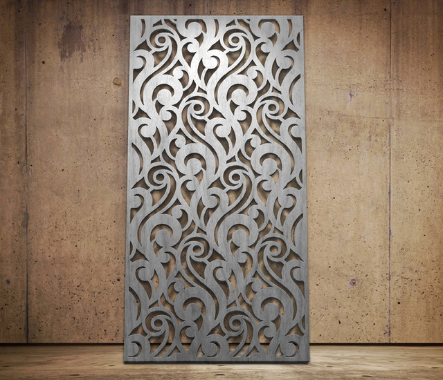 Scrolls Design Laser Cut Screen Modern Screens And