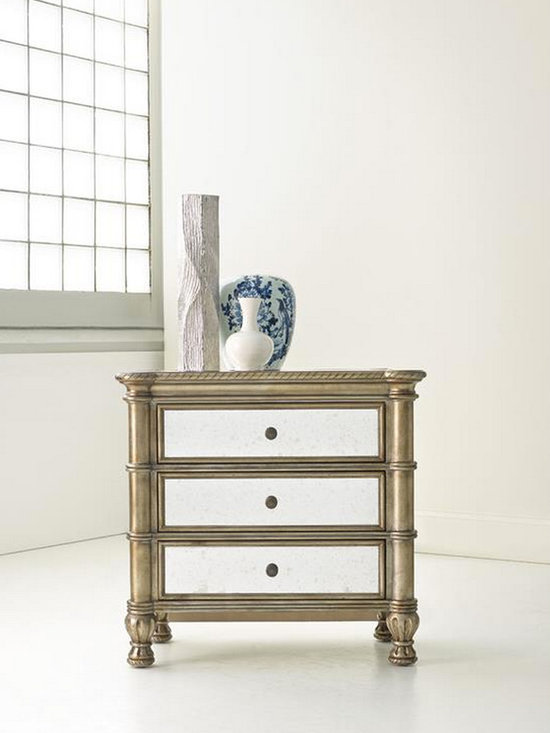 Hooker Furniture Bedroom Montage Bedside Chest - Hooker Furniture Bedroom Montage Bedside Chest, antique and modern mixed.