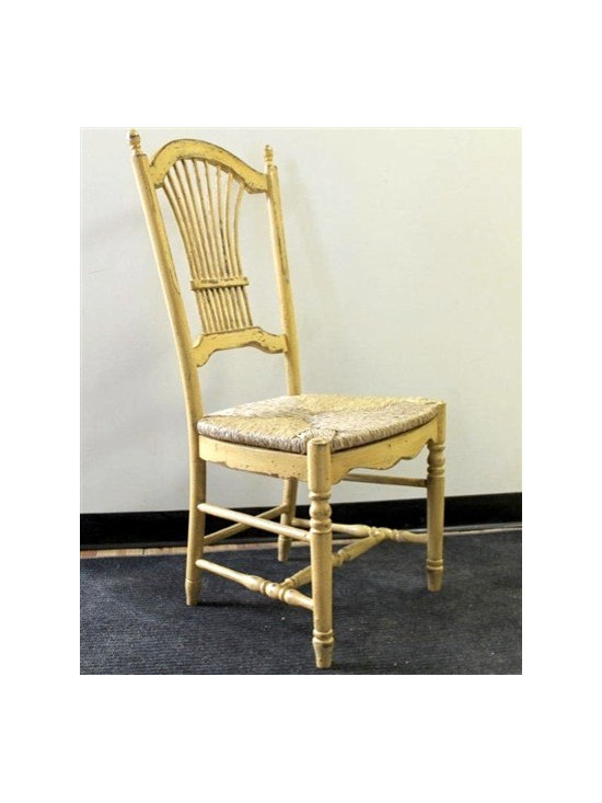 """Yellow Multi Colored Fan Dining Chair - """"Made by http://www.ecustomfinishes.com"""