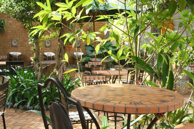 Mosaic table made in Vietnam for garden and patio traditional-outdoor-tables