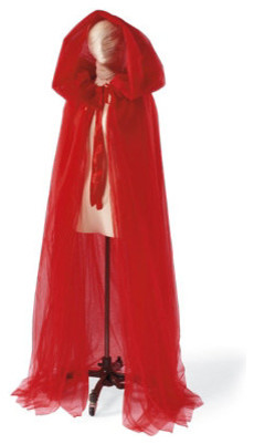 Tulle Halloween Cloak - Halloween Decorations and Decor traditional-holiday-decorations