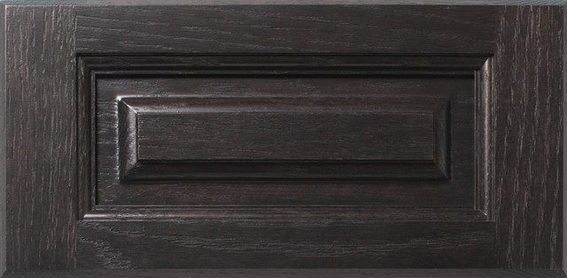 Charcoal on Oak eclectic-kitchen-cabinets