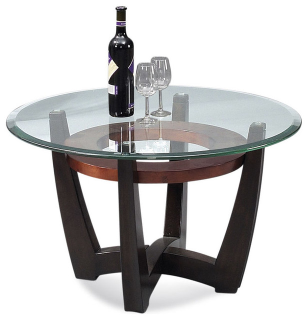 Bassett Mirror T1078-120/033 Elation Round Glass Top Cocktail Table modern-coffee-tables