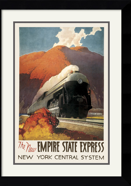 Empire State Express Framed Print by Leslie Ragan traditional-prints-and-posters