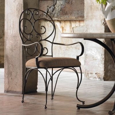 Hooker Furniture Scroll Back Dining Arm Chair - Set of 2 modern-dining-chairs