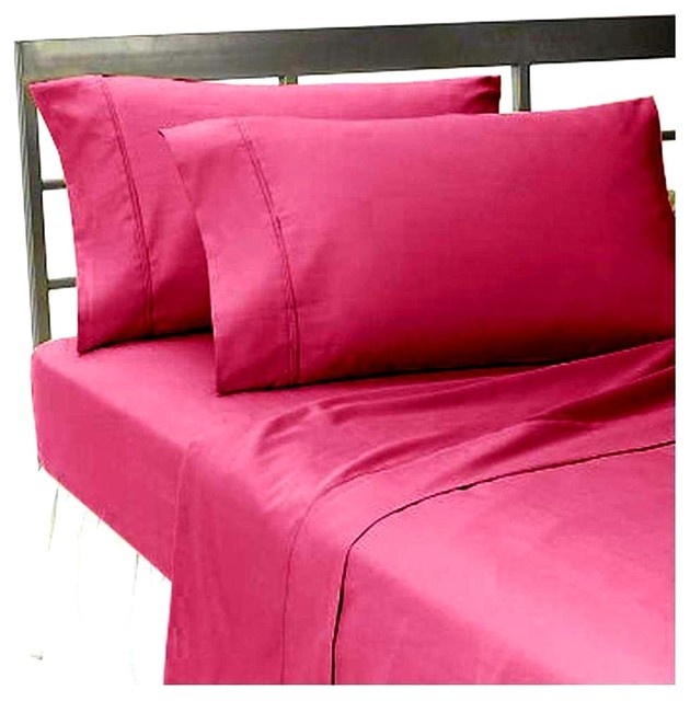 300tc 100 egyptian cotton solid pink king size flat sheet contemporary flat sheets by. Black Bedroom Furniture Sets. Home Design Ideas