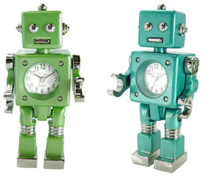 Tokibot Robot Clock contemporary-clocks