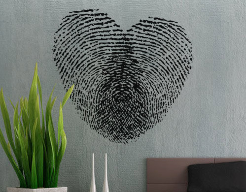 Fingerprint Heart Wall Decal by Uber Decals eclectic-wall-decals