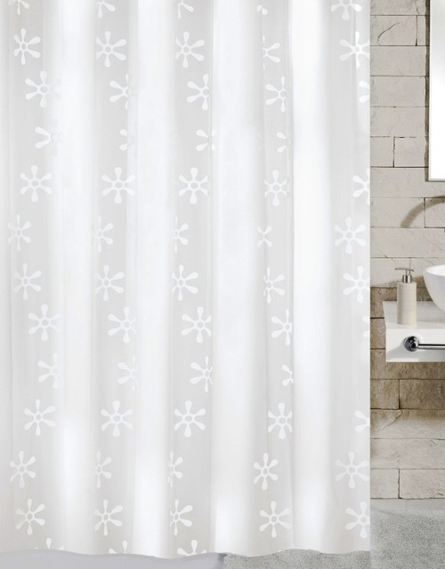 Contemporary Pvc Free Shower Curtain Viva Contemporary Shower Curtains Other Metro By