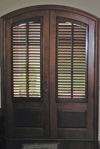 Arched Stained Doors How To Cover The Glass