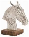 Arteriors Leighton Cast Aluminum/Wood Sculpture contemporary-decorative-objects-and-figurines
