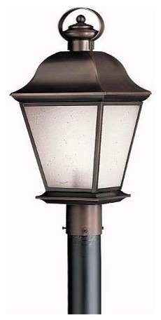Outdoor Post 1 Lt. fluorescent modern-lighting