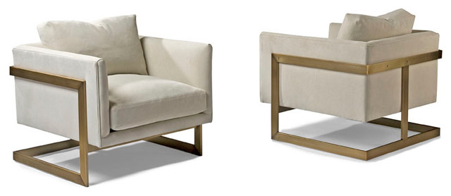 Design Classic 989 Lounge Chairs by Milo Baughman (bronze) from Thayer Coggin midcentury-living-room-chairs