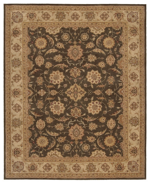 Nourison Heritage Hall HE18 (Sable) 6' Free Form Rug traditional-area-rugs