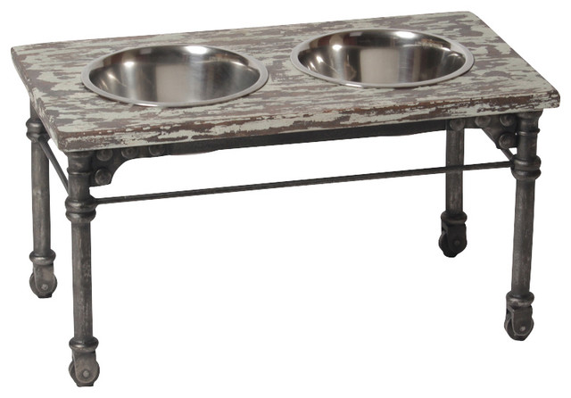 Large Vintage Industrial Elevated Dog Feeder