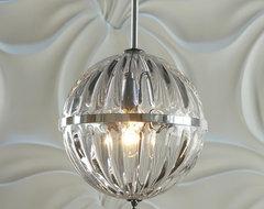 Fluted Glass Globe Pendant lamp-shades