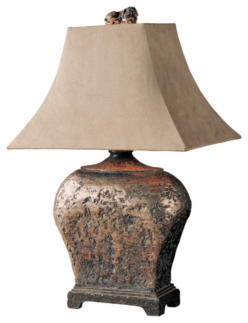 Uttermost Xander Distressed Bronze Table Lamp traditional-table-lamps