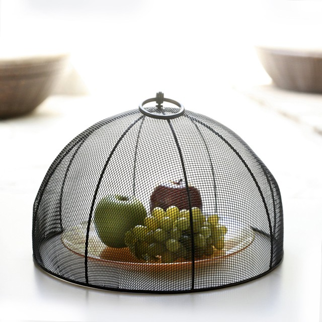 Mesa Home Mesh Dome Food Cover With Flip Ring contemporary-food-containers-and-storage
