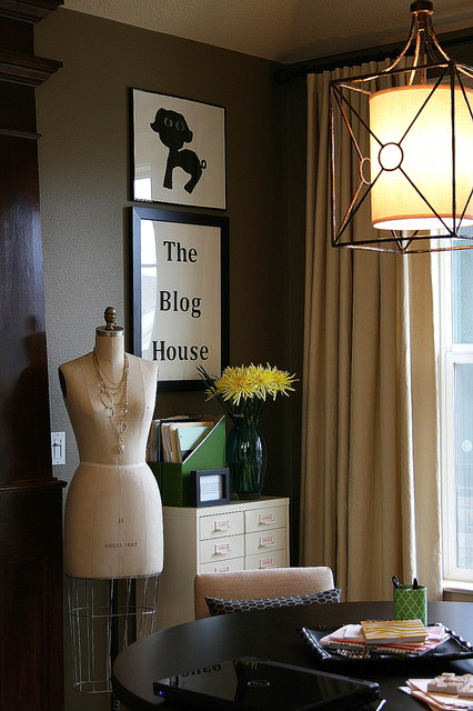 Living Room Becomes A Work Space eclectic-living-room