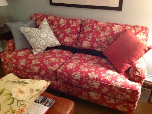 What Fabric Patterns Go With A Floral Chintz Deep Red