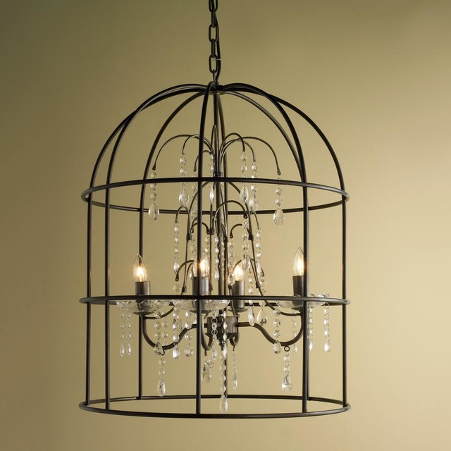 birdcage crystal chandelier chandeliers by shades of light. Black Bedroom Furniture Sets. Home Design Ideas