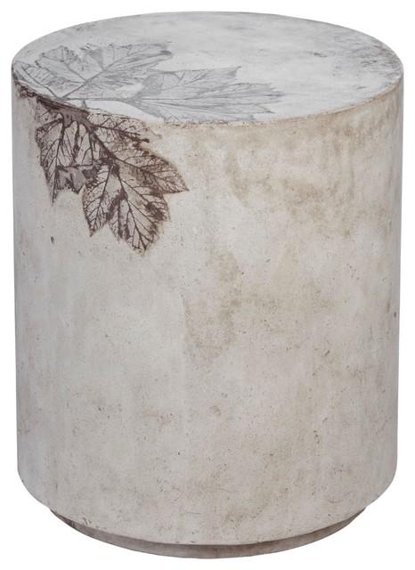 Medium Round Concrete Stool: 976 outdoor-dining-tables