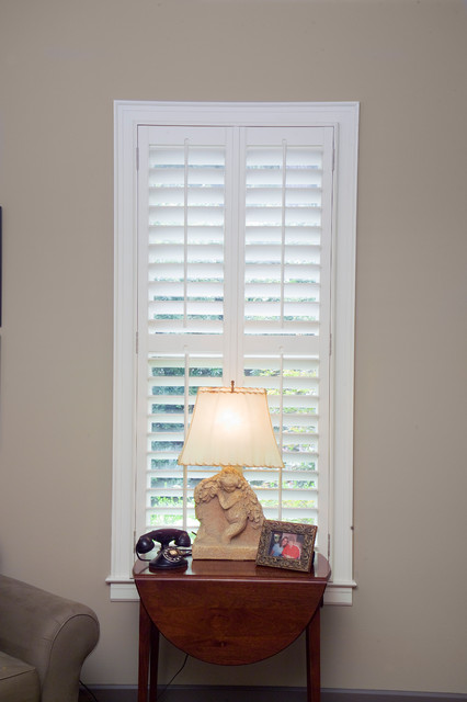 Wood Shutters - Wood Plantation shutters traditional