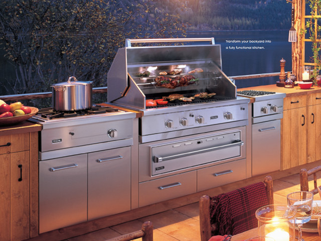 Viking Outdoor Kitchen And Cooking Island New York By