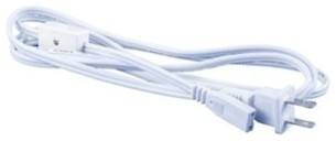 Sleek Plus 2-wire Right Angle Power Cord and Plug - From Back modern-cable-management