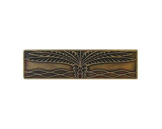 """Inviting Home - Horizontal Royal Palm Pull (antique brass) - Hand-cast Horizontal Royal Palm Pull in antique brass finish; 4""""W x 1""""H; Product Specification: Made in the USA. Fine-art foundry hand-pours and hand finished hardware knobs and pulls using Old World methods. Lifetime guaranteed against flaws in craftsmanship. Exceptional clarity of details and depth of relief. All knobs and pulls are hand cast from solid fine pewter or solid bronze. The term antique refers to special methods of treating metal so there is contrast between relief and recessed areas. Knobs and Pulls are lacquered to protect the finish."""