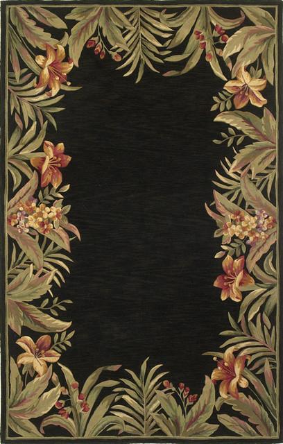 Tropical Rainforest Black Sparta Floral 2 6 Quot X 10 Runner