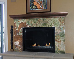 Custom Fireplace Design eclectic-family-room